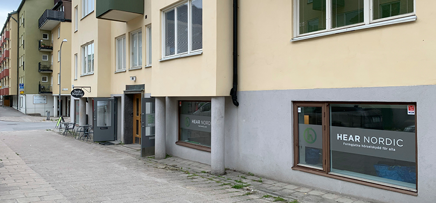 Bild på Hear Nordics lokaler på Gustafsvägen 8 i Solna
